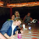 Having fun at one of the hut bars by the beach