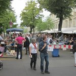Room to stroll and shop at flea market Strasse des 17. Juni