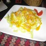 green salad with Mango sauce & sesame