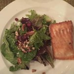 My salad with Salmon. Simple, yet flavorful!