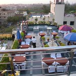 Rooftop Restaurant with view of Taj Mahal
