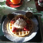 Huge waffles made and served by Brantley
