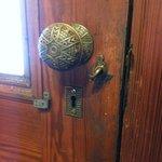 Old door knob fixture in main house