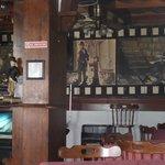 Inside the main area of Chaplins Bar
