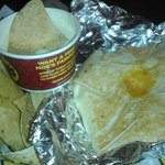 Stack with Chips and Queso