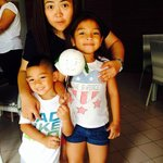 with intelligent and smart  mulan and gates my playmates :) children of the owner :)