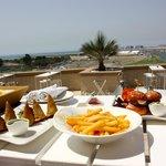 Siddharta Lounge overlooking Skydive Dubai