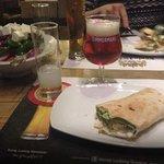 falafel + beers