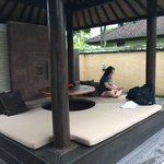 Rest area of the pool vill