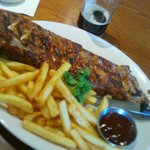 Full Rack of Ribs £11.49 with salad as starter March 2014