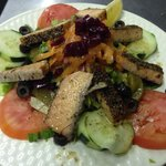 Smoked samon salad