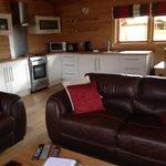 Kitchen in lodge 4