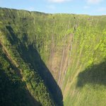 View from helicopter ride over big island