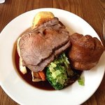 Roast Beef on a very small plate