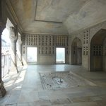 A porch adjacent to the Khas Mahal with more marble work.