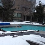 Busy Swimming Pool in Winter