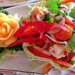 fantastic thai salad we had today at khrua thai orchid