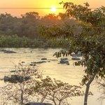 Sun rise over Betwa River