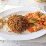 Sweet n sour chicken with noodles