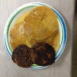 Pancake breakfast in Visitor's Building