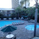 nice pool and hottub with a great Tiki Bar and Pool Side service
