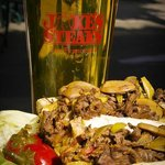 Cheese Steaks and beer - the perfect Sports Bar combination
