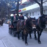 Sleigh ride - but where's the snow gone?