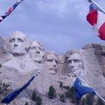 Flags salute the Prez