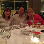 Enjoying our meal at the Brasserie in the Sofitel, Gatwick