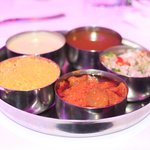 Chutney Tray includes house favourite Coconut dip