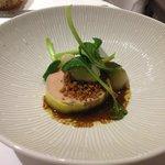 foie gras avec de la poire