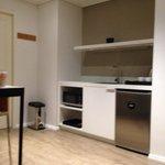 Kitchen area 1 bedroom unit