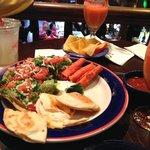 The appetizer platter goes great with strawberry margaritas!