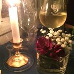 Candlelight and fresh flowers