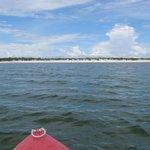 Caiaque na lagoa azul