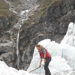 Our guide Michael at Fox Glacier guiding