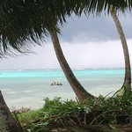 View from Half Moon Caye...a storm approaches