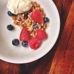 House Granola & Fresh Fruit at Breakfast Buffet