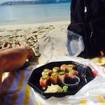 Beach side sushi?! What more could you ask for! Delicious too!