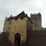 La parte central del castillo.