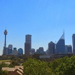 View from the balcony of the Sydney skyline