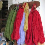 naturally dyed wool yarns