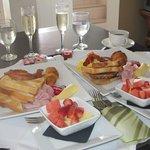 In room breakfast service