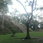 Cahal Pech Mayan ruins only a 5 minute drive from WH...end of the day and no one else around!