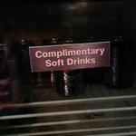 sign on the mini-bar