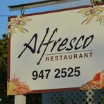 Alfresco sign