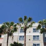 Courtyard against a gorgeous Blue Sky