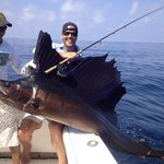first sailfish on fly