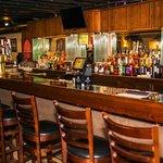 Full service bar with martini, wine, Campari, Cinzano and Peroni