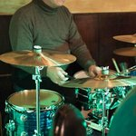 Shane on drums with Pat Crawford Jazz Combo